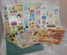 Ann Estelle Paper Dolls Gracie Tommy Lilah Audrey Georgia 19 Uncut 4 Postcards