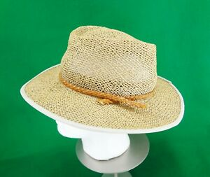 Columbia Sportswear L/XL Straw Hat with Leather Band Unisex
