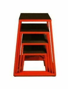 "J/fit Plyo Boxes - Plyometric Platform Set (12"",18"",24"",30"") Red/Black FREE SHIP"