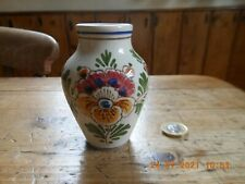 Vintage Delft Small Vase Handpainted. D.P. Delft, 3*s in triangle, 51, bp