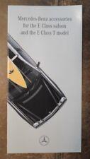 MERCEDES BENZ E CLASS orig 1997 Factory Accessories Brochure