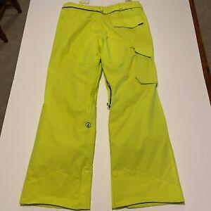 VOLCOM VENTRAL Snow Pants - G1351612 - Lime Green Bright - M - NWT Size Medium