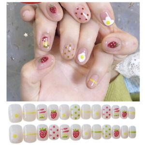 Wearable Nail False Nails Length Removable / Girl Nail Patch (#23)