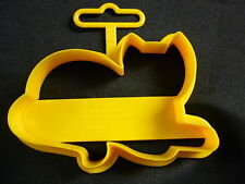 Wilton Plastic Yellow Kitten Kitty Cat Animal Shape Cookie Cutter 4 Inches - New