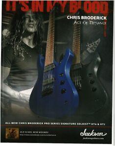 2018 JACKSON Soloist blue electric guitar CHRIS BRODERICK magazine ad