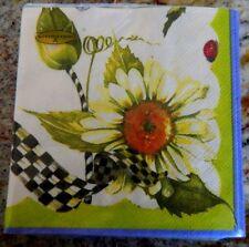 New MacKenzie Childs SunfLower Paper Napkins Cocktail /20 per pack/