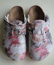 BIRKENSTOCK Clogs Mules Sandals KAY/BOSTON BF Roses Red Grey US4 EU35 UK2 Narrow