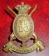 CAP BADGES-ORIGINAL VICTORIAN/QVC 6th DRAGOON GUARDS NICE BADGE