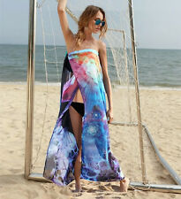 Women Summer Boho Long Maxi Evening Party Dress Beach Dresses Chiffon Dress