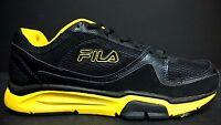 FILA Men's Size 9 Vigilance Trainer Running Shoes, 0011613X, Blk / Yllw