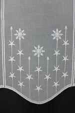 m/€ 15,25 Scheibengardine Gardine Bistrogardine 44 cm hoch Sterne  Weihnachten