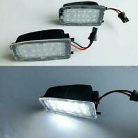 Fits Land Rover L322 Sport White LED Mirror Puddle Courtesy Light Bulbs 2Pcs