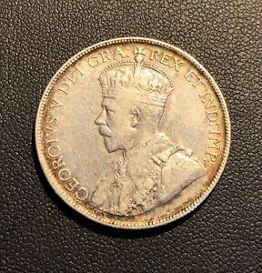 aVF1918 Canada Half Dollar 50 Cents Silver Coin!