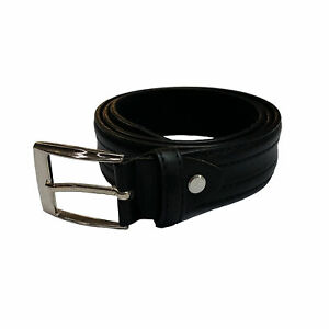 Laramy Boys Bonded Leather Belt With Round Buckle Kids - Chocolate Brown Formal