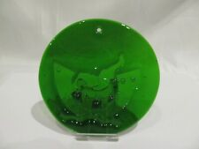 NOAH'S ARK - ELEPHANT SUN CATCHER MICHAEL BANG DANISH GREEN ART GLASS HOLMEGAARD