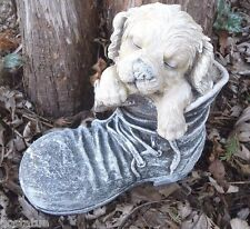 latex w plastic dog in boot plaster concrete  mold  mould