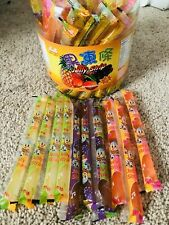 TIKTOK JIN JIN JUICY Jelly Strips Straws Sticks Noodles Tik Tok 10pc Ju-c Candy