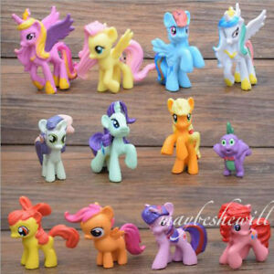 """2"""" My Little Pony 12 pcs Action Figures Cake Toppers Set of Girl Toy Decorations"""