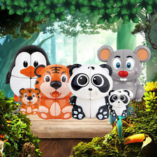 Panda/Tiger/Penguin/Mouse Animal Cube Puzzle Educational Jigsaw kids Toy