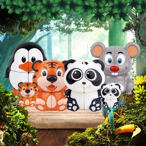 Panda/Tiger/Penguin/Mouse Animal Cube Puzzle Educational Jigsaw kids Toy