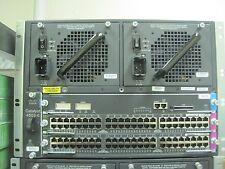 Cisco WS-C4503-E  WS-X4515 2X WS-X4548-GB-RJ45V 96 PT Gig POE Switch 1 YR WTY