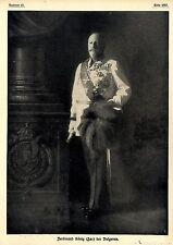 Ferdinand König (Zar) der Bulgaren 1916