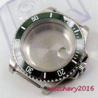 40mm  Parnis Sapphire Glass ceramic bezel Watch Case fit 8215 8205 2836 Movement