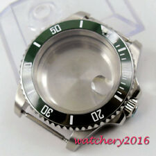 40mm  Parnis Sapphire Glass ceramic bezel Watch Case fit 8215 8205 2836 Movement