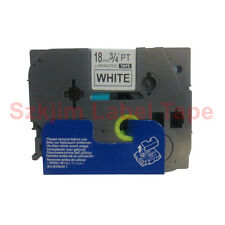 TZ-FX241 Flexible Black on White 18mm 8m Label Compatible to Brother TZe-FX241