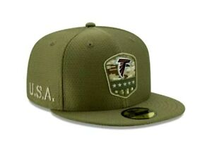 New Era 59Fifty Salute to Service Atlanta Falcons Fitted Hat Size 7 1/2 NFL