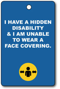 Exemption Cards and Lanyards - Hidden Disabilty Face Covering Exempt