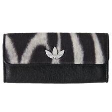 adidas Originals Womens Zebra Wallet Purse Faux Leather Faux Fur Rare   M30766