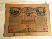 1954 VFW 55th Encampment Souvenir HISTORIC WOOD Relic INDEPENDENCE HALL timber