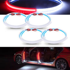 4×Car Door Open Warning Lamp LED Light Strips Strobe Flash Anti-collision safety