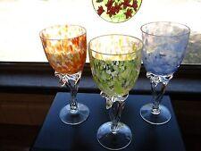 Handcrafted Momo Panache Polish Art Glass Wine Glasses Goblets