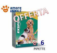 Exspot 6 pipette 1 ml per Cani da 2,5 kg a 40 kg Antiparassitario per cani