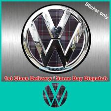 VW GTI PLAID inserti adesivi per Golf rear badge VINILE TDI R32 Mk4 Mk5 Mk6 B6