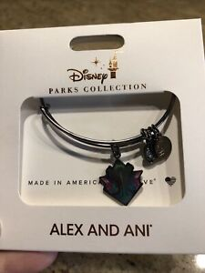 Alex And Ani Disney Villains Maleficent Black Bracelet New