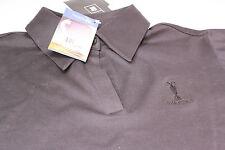 Ladies Adidas Climalite Lycra Mercerized Golf Polo Shirt Size 14 Black The Open