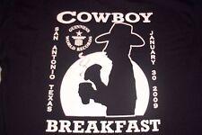 San Antonio Express News Guiness World Records Cowboy Breakfast T-Shirt Mens L