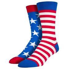 Socksmith Men's Crew Socks USA American Flag Stars and Stripes Novelty Footwear