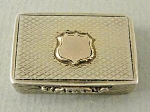 Good Victorian Silver Gilt VINAIGRETTE Hallmarked Birmingham 1840 Maker GW