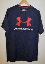 Under Armour UA Logo Blue Charged Cotton Loose t-shirt Mens Medium