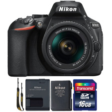 Nikon D5600 24.2MP DSLR Camera with 18-55mm Lens and 16GB Memory Card