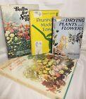 Lot of 4 Vintage Gardening Pruning Houseplant Flower Books - Staging - Decor