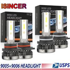 Mini Combo 9005+9006 LED Headlight Bulbs Kit 2800W 420000LM High Low Beam 6000K