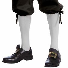 Colonial Knee High Costume Socks (White) Adult One Size | FORUM NOVELTIES 68564