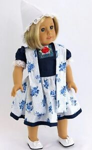 Holland Dutch Dress Set w Hat for American Girl 18 inch Doll Clothes LOVVBUGG 🐞