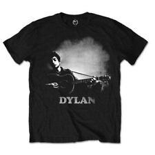 Bob Dylan Guitarra y Logotipo Negro Camiseta de manga corta para hombre Oficial