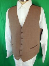 Vintage 60s 70s Reversible Green & Houndstooth Waistcoat Mod Formal Steampunk 42